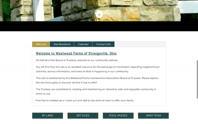 Westwood Farms HOA Website Refresh