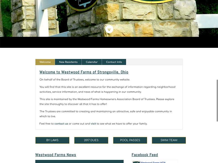 Westwood Farms HOA Website Refresh