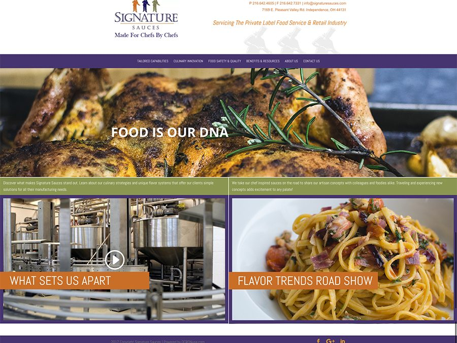 Signature Sauces launches new website